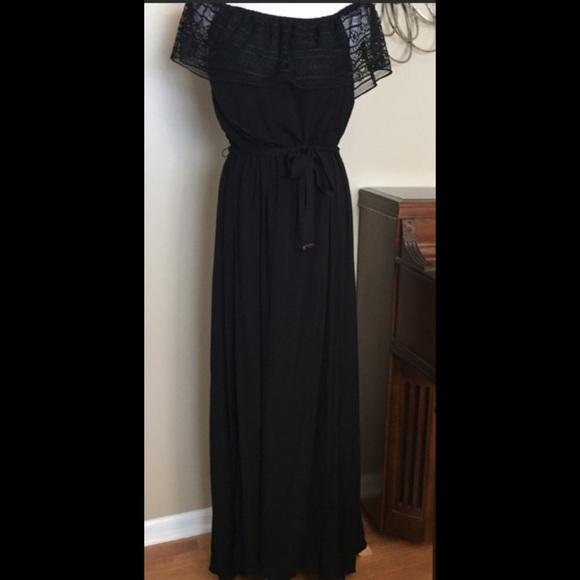 c2b0145f55 NWT Apt. 9 Sz Large Black Off Shoulder Maxi Dress